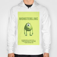 monster inc Hoodies featuring Monsters, Inc by FunnyFaceArt