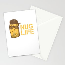 Nug Life - Distressed Design for Chicken Nugget Fans Stationery Cards