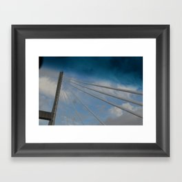 Georgia/South Carolina Bridge Framed Art Print