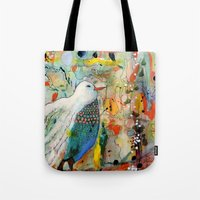 andreas preis Tote Bags featuring vers toi by sylvie demers