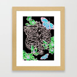 Cherry Blossom Spare Ribs and Butterflies Framed Art Print