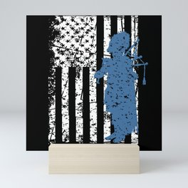 Retro bagpiper I bagpipe motif Mini Art Print