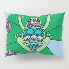 Frog and Lily Pads Pillow Sham