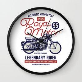 Authentic Motorcycle 1955 Royal Motor Wall Clock