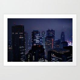 Lost in Translation - Tokyo Blues (II) Art Print