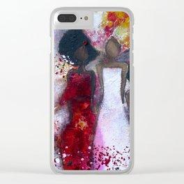 Fierce Fire Femme Clear iPhone Case