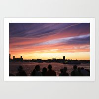 4th of July Sunset Art Print