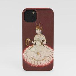 Goddess Saraswati, 17th Century Pantn iPhone Case