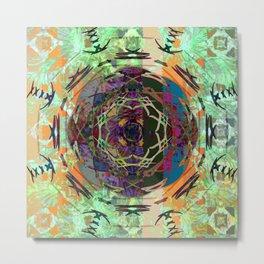 August Mandala Metal Print