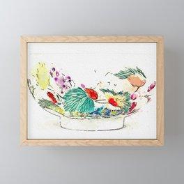 A 'BONELESS' FAMILLE-ROSE BOWL watercolor by Ahmet Asar Framed Mini Art Print