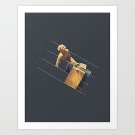 NOT The Death of Marat Art Print