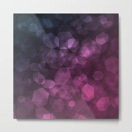 Purple blue abstract pattern . Metal Print