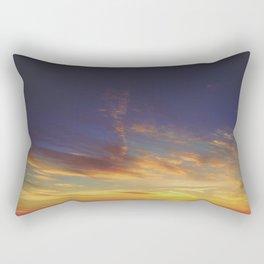 Sunset from the Mountain Rectangular Pillow