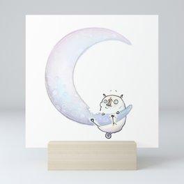Cheese Moon Mini Art Print