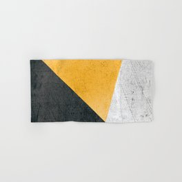 Modern Yellow & Black Geometric Hand & Bath Towel