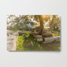 ruins of ancient city of Messena, Peloponnese Metal Print