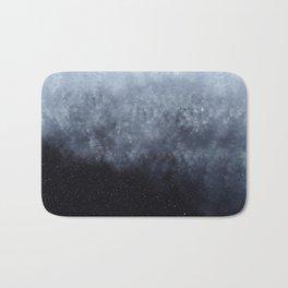 Blue veiled moon Bath Mat