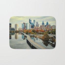 Philadelphia Fall Skyline Bath Mat