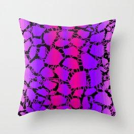 bitmap giraffe Throw Pillow