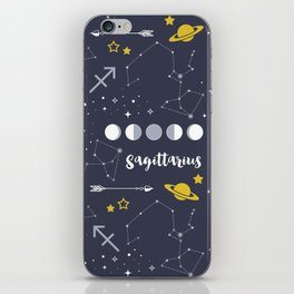 Sagittarius Zodiac Sign Pattern iPhone Skin