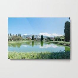 Italian Landscape in Tivoli Metal Print