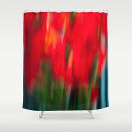 Red Gladiola Shower Curtain