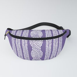 Cable Stripe Violet Fanny Pack