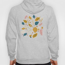 Fall Foliage in Blue and Gold Hoody