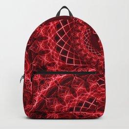 Rich mandala in red tones Backpack
