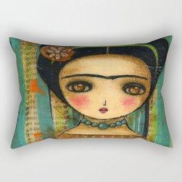 Frida In A Purple And Blue Dress Rectangular Pillow