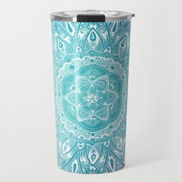 Mandala Blue Travel Mug
