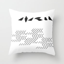 urban birds Throw Pillow