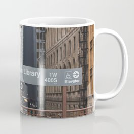 State and Van Buren Harold Washington Library Stop - Chicago El Coffee Mug