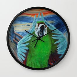 Parrot Scream Wall Clock