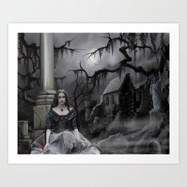 The Darkness Awaits Art Print