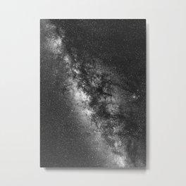 Milky Way Black And White Metal Print