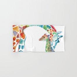 Mummy and Baby Giraffe College Dorm Decor Hand & Bath Towel
