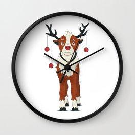 Reindeer Rudolph Wall Clock