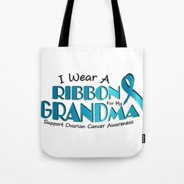 I Wear Teal For My Grandma Ovarian Cancer Awareness Gift Tote Bag