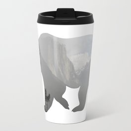 Grizzly Bear with Yosemite Photo Inlay Travel Mug