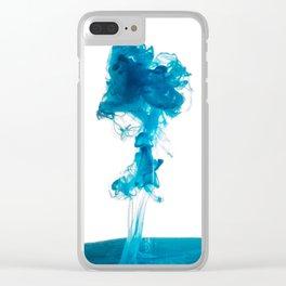 Blue Dye Clear iPhone Case