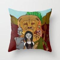 oz Throw Pillows featuring Oz by nu boniglio