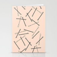 bathroom Stationery Cards featuring BATHROOM PRINT by Hail Of Whales