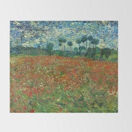 Vincent Van Gogh Poppy Field Throw Blanket
