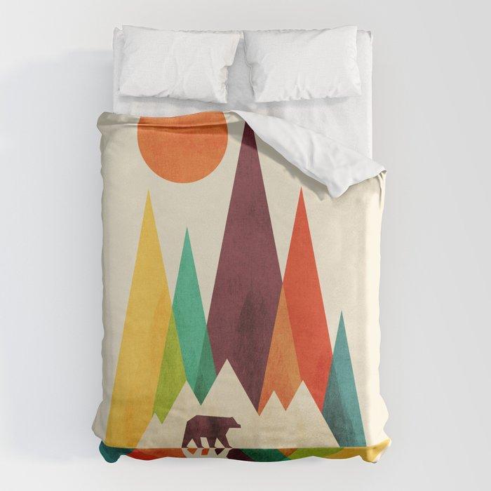 Bear In Whimsical Wild Bettbezug