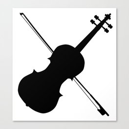 Fiddle Silhouette Canvas Print