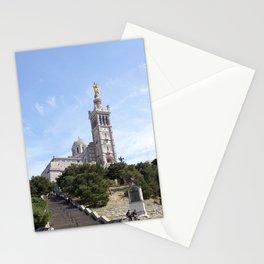 Notre Dame de la Garde basilica in Marseille France Stationery Cards