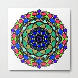 Colourful Hand Drawn Mandala Metal Print
