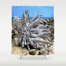 Bermuda  Driftwood Shower Curtain