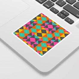 Bright multicolored shapes Sticker